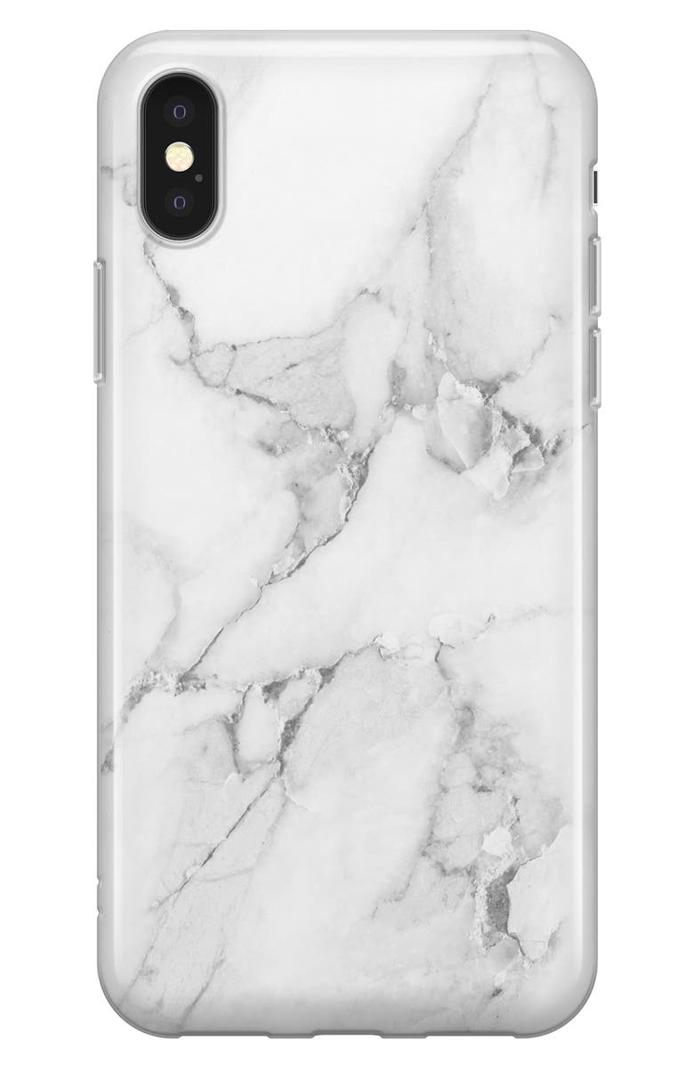 RECOVER White Marble iPhone X/Xs/Xs Max & XR Case, Main, color, WHITE MARBLE