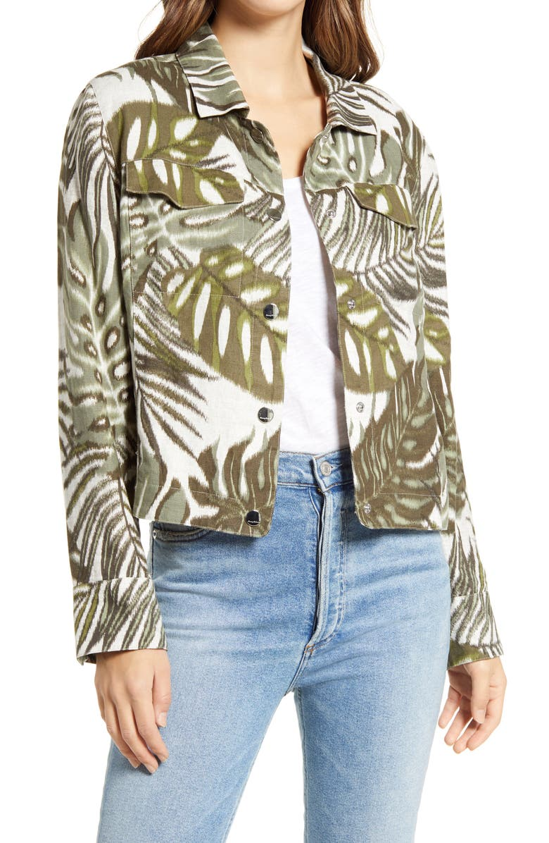 TOMMY BAHAMA Safari Bliss Jacket, Main, color, TEA LEAF