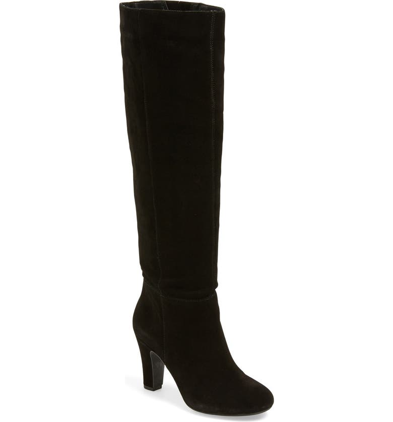 JESSICA SIMPSON 'Ference' Tall Boot, Main, color, BLACK SUEDE