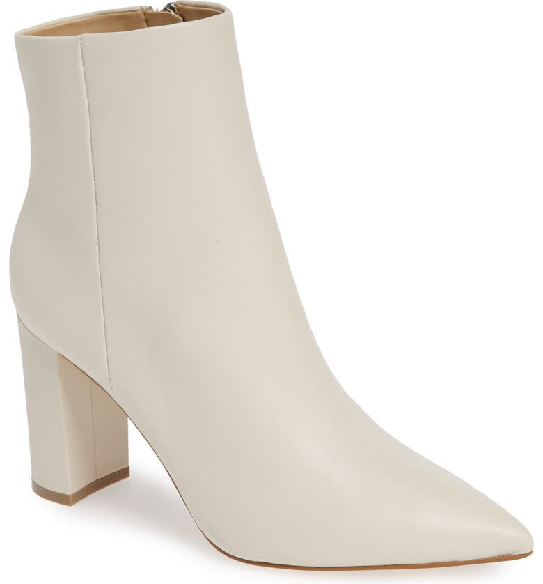 MARC FISHER LTD Ulani Pointy Toe Bootie, Main, color, IVORY LEATHER