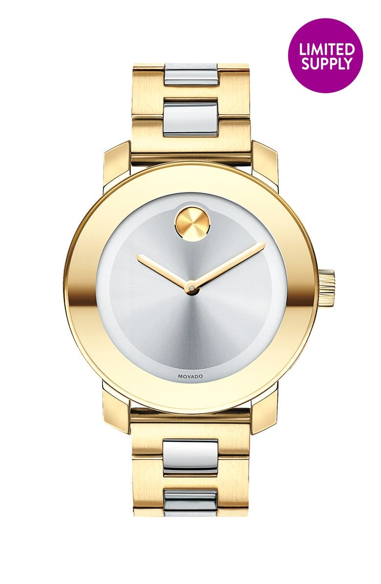 MOVADO 'Bold' Round Bracelet Watch, 36mm, Main, color, 710