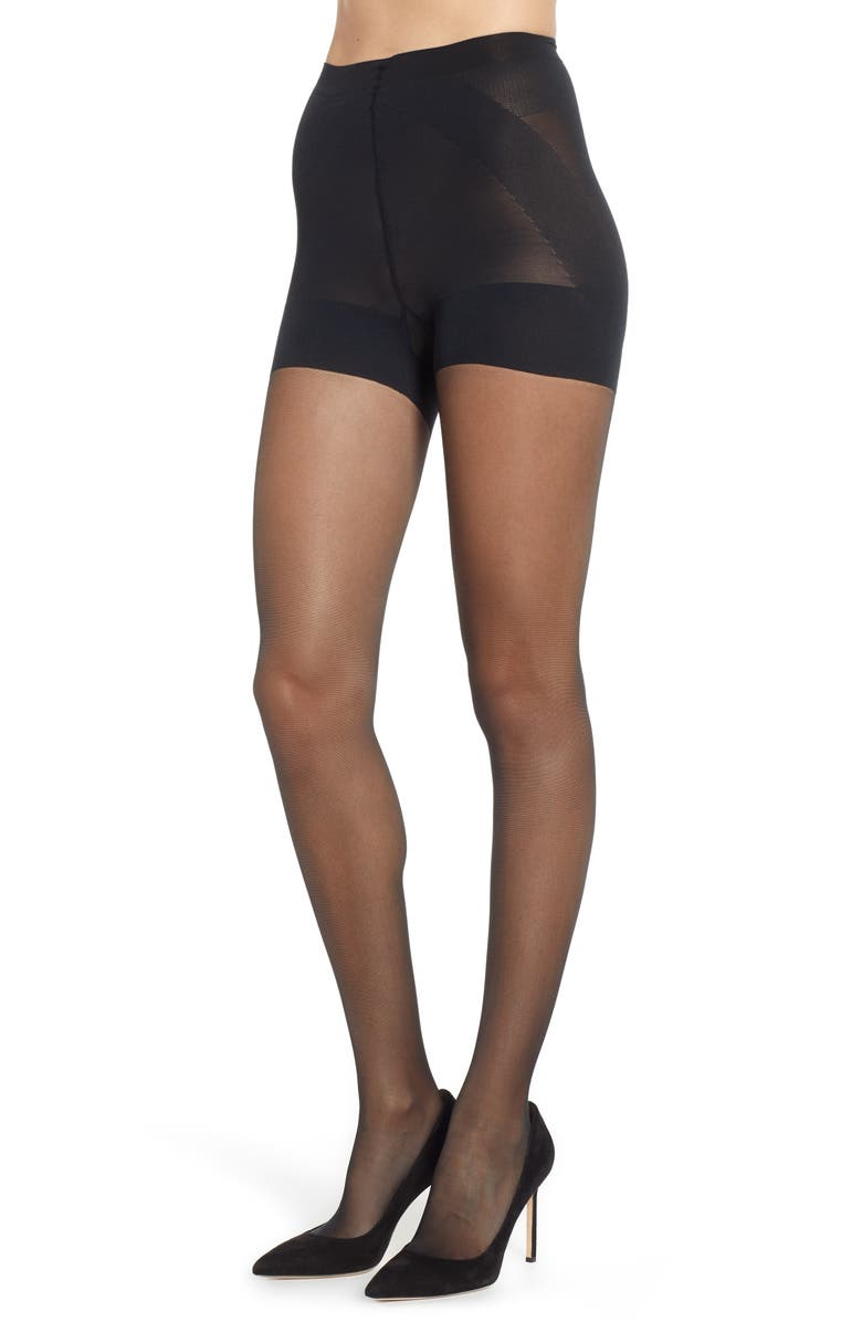 NORDSTROM Naked Sheer Energizing Tights, Main, color, 001