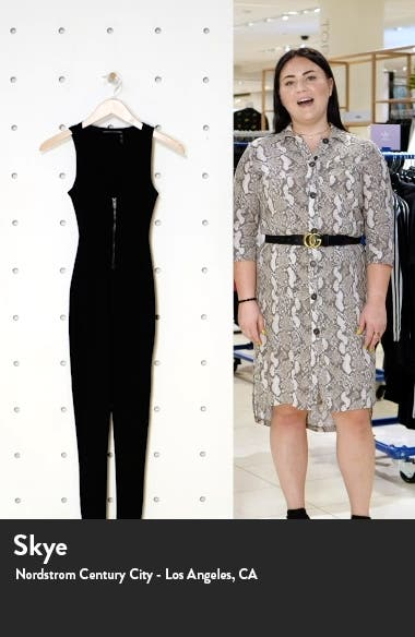 Snatched Zip Front Sleeveless Jumpsuit, sales video thumbnail