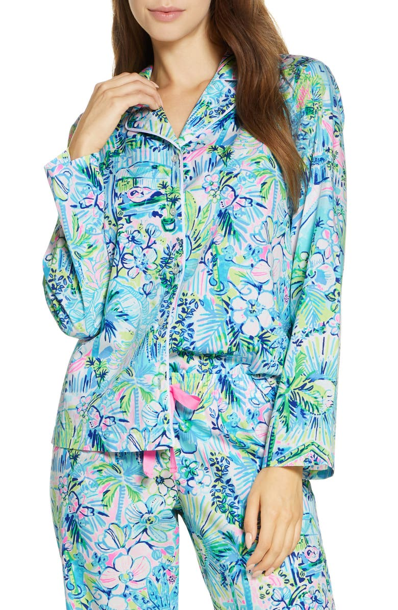 LILLY PULITZER<SUP>®</SUP> Woven Pajama Top, Main, color, 400
