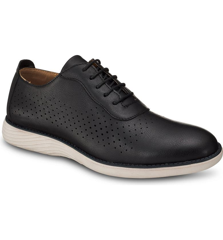 MEMBERS ONLY Perforated Oxford Shoe, Main, color, BLACK