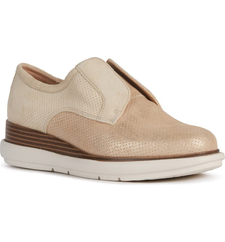 GEOX Samuela Laceless Derby, Main, color, SAND SUEDE