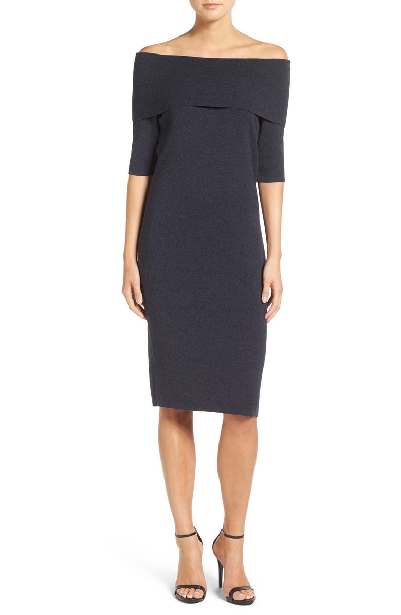 CUPCAKES AND CASHMERE 'Jason' Off the Shoulder Body-Con Dress, Main, color, 030