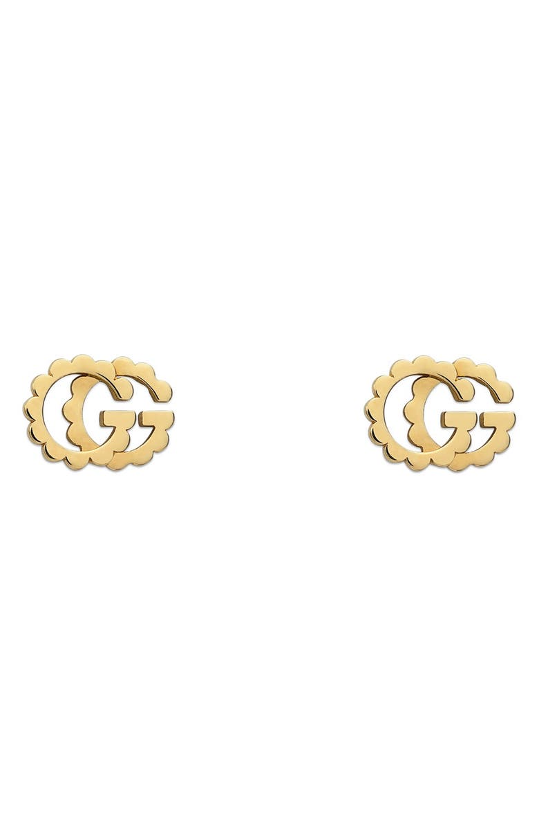 GUCCI GG Running 18K Gold Studs, Main, color, YELLOW GOLD