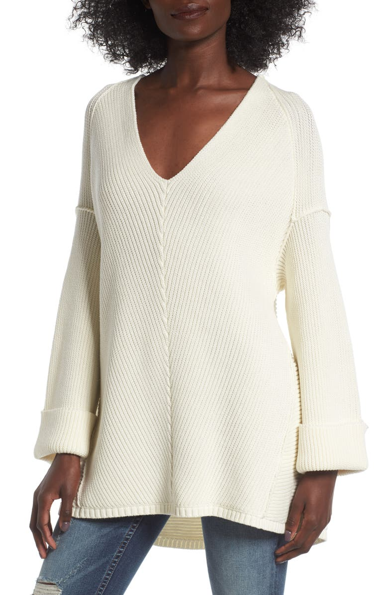 LOVE BY DESIGN Cuff Sleeve Pullover, Main, color, 900