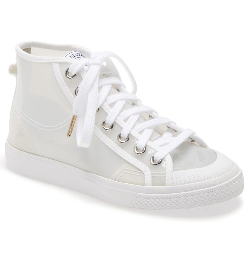 ADIDAS Nizza Opaque High Top Sneaker, Main, color, WHITE/ CORE BLACK/ SILVER