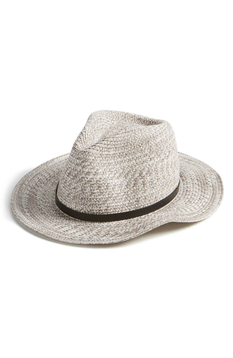AUGUST HAT Straw Fedora, Main, color, 020
