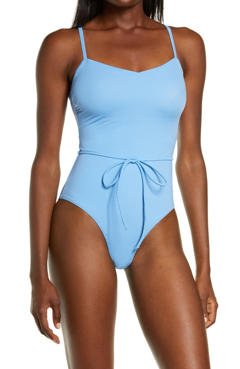 CHELSEA28 Easy Retro One-Piece Swimsuit, Main, color, BLUE ROBBIA