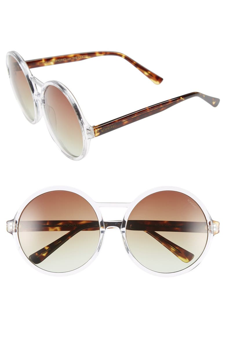 KOMONO 'Coco' 58mm Sunglasses, Main, color, 100
