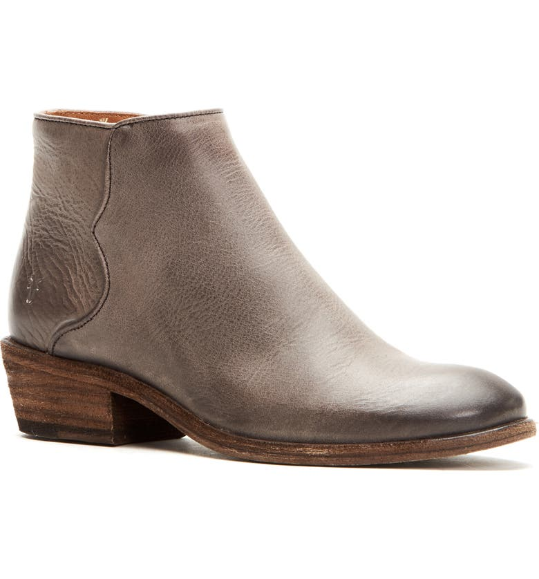 FRYE Carson Piping Bootie, Main, color, GRAPHITE