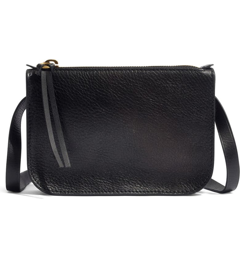 MADEWELL The Simple Pouch Belt Bag, Main, color, TRUE BLACK