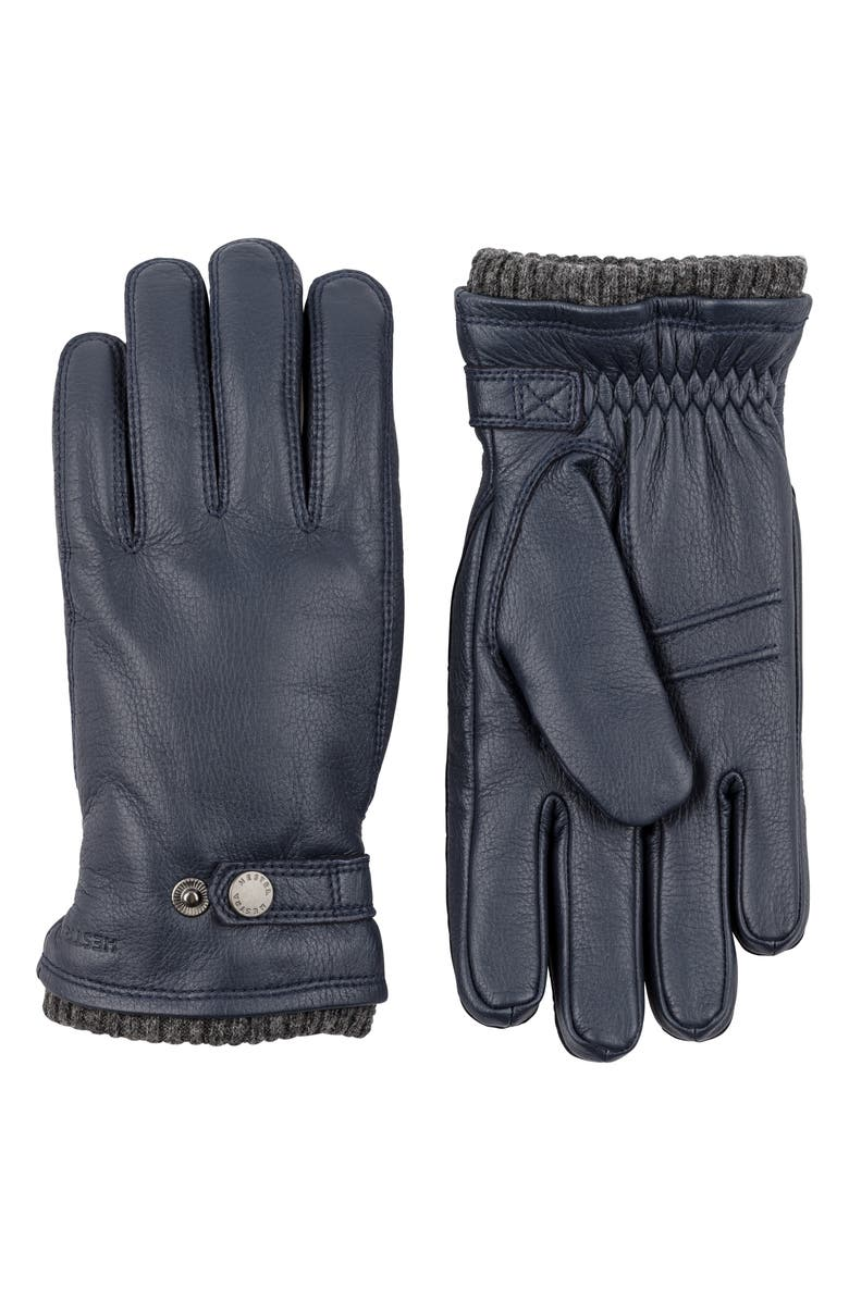 HESTRA Utsjo Leather Gloves, Main, color, 401