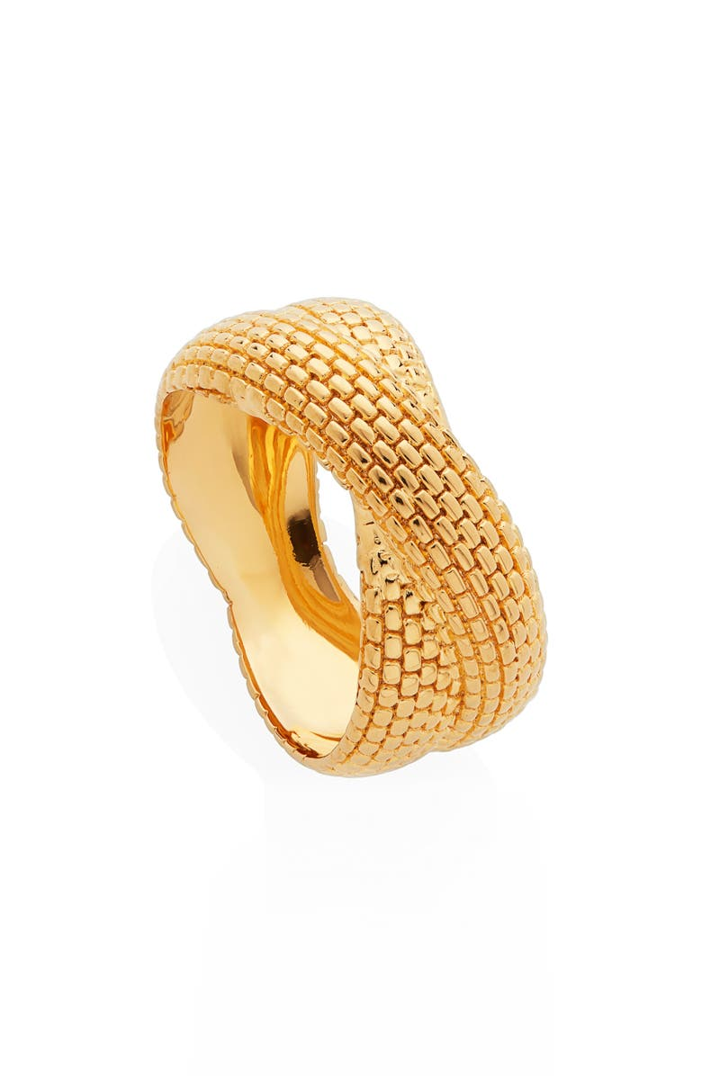 MONICA VINADER x Doina Chain Crossover Ring, Main, color, YELLOW GOLD