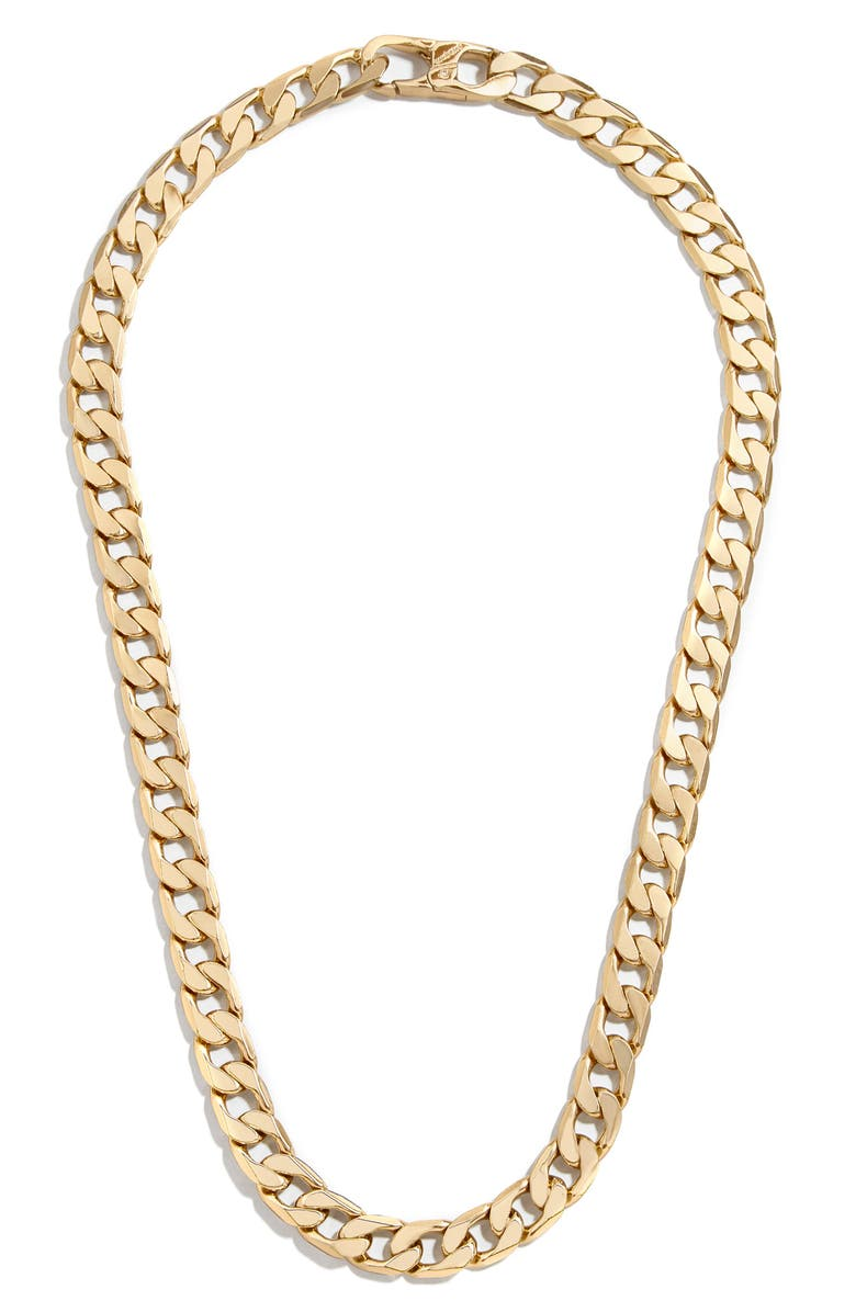 BAUBLEBAR Michel Curb Chain Necklace, Main, color, 710