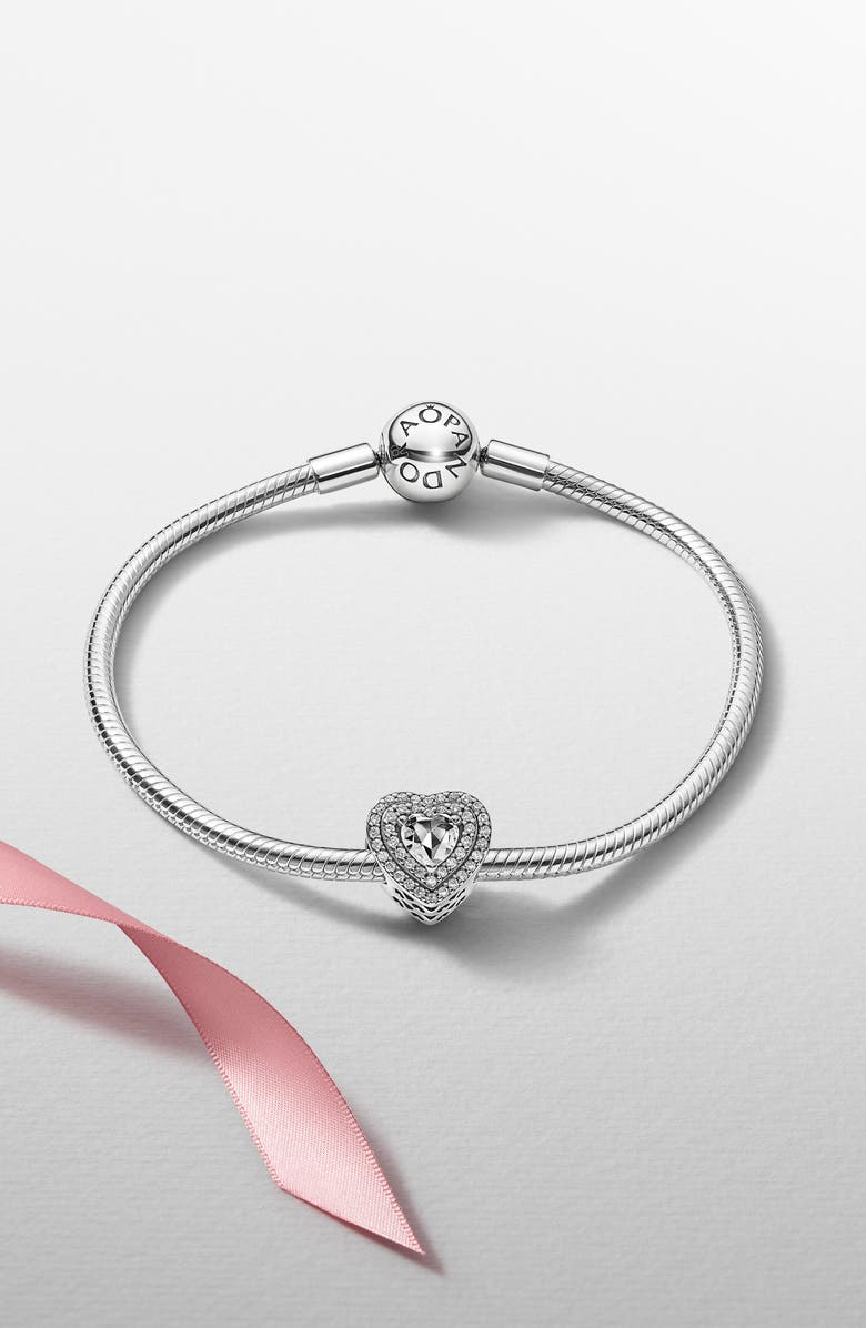 PANDORA Sparkling Heartfelt Holiday Bracelet Gift Set, Main, color, 040