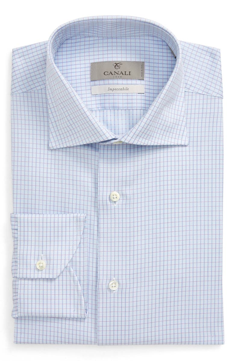 CANALI Impeccabile Regular Fit Check Dress Shirt, Main, color, 400