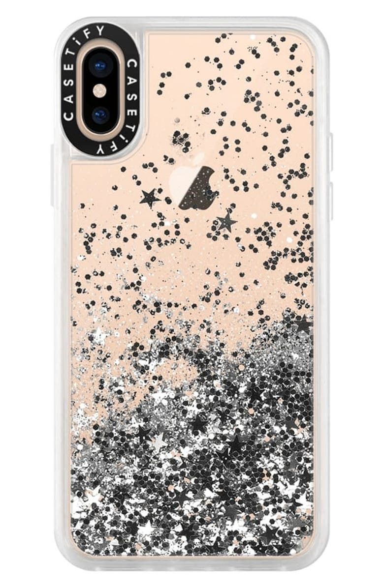 CASETIFY Classic Grip iPhone X/Xs, Xs Max & XR Case, Main, color, Silver