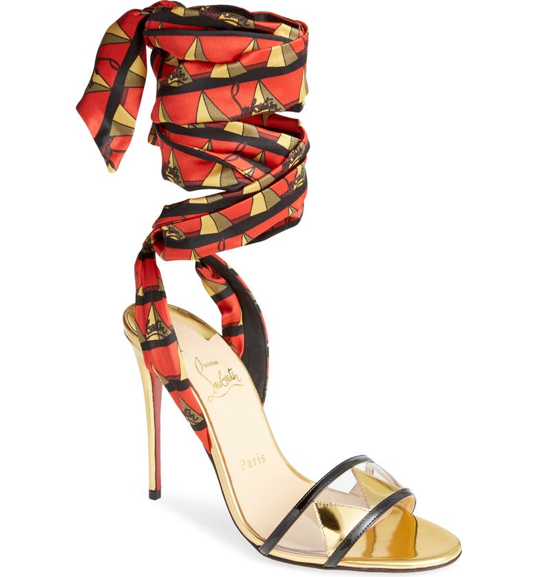 CHRISTIAN LOUBOUTIN Baigneuse Ankle Wrap Sandal, Main, color, 600