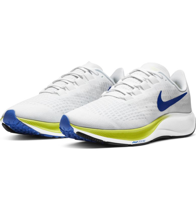 NIKE Air Zoom Pegasus 37 Running Shoe, Main, color, WHITE/ CYBER/ BLACK/ BLUE