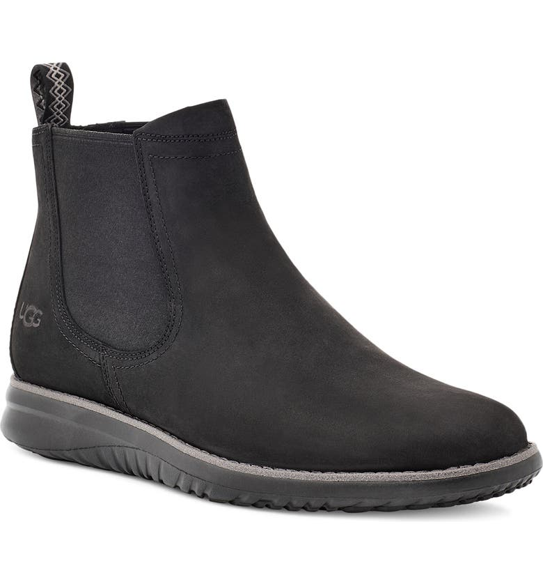 UGG<SUP>®</SUP> Union Waterproof Chelsea Boot, Main, color, BLACK LEATHER