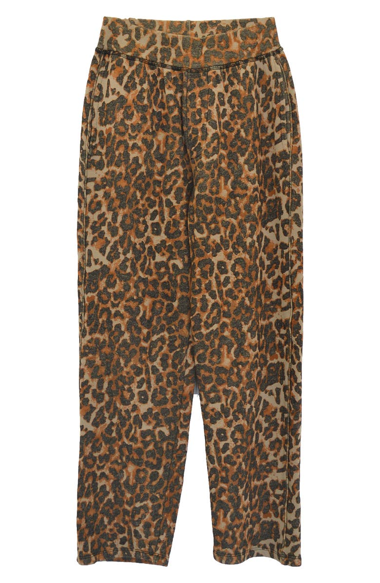 NSF CLOTHING Clarence Leopard Print Track Pants, Main, color, TAUPE LEOPARD
