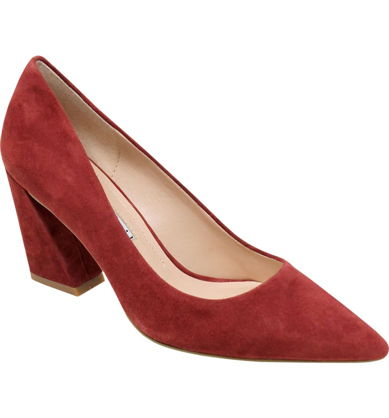CHARLES DAVID Arsenal Pointed Toe Pump, Main, color, MULBERRY SUEDE