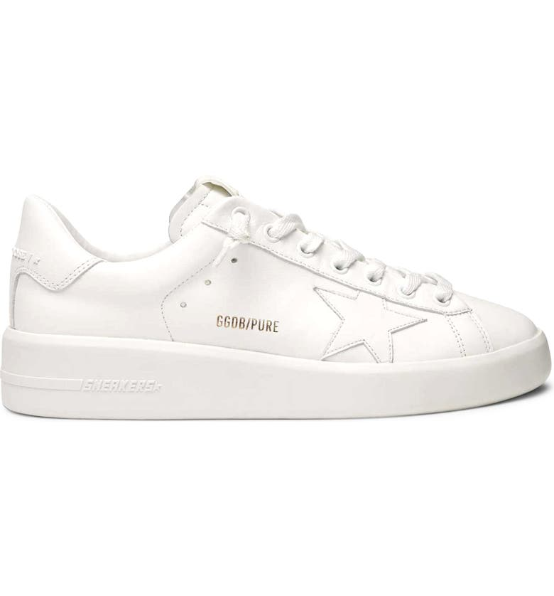 GOLDEN GOOSE PURESTAR Low Top Sneaker, Main, color, OPTIC WHITE/ WHITE