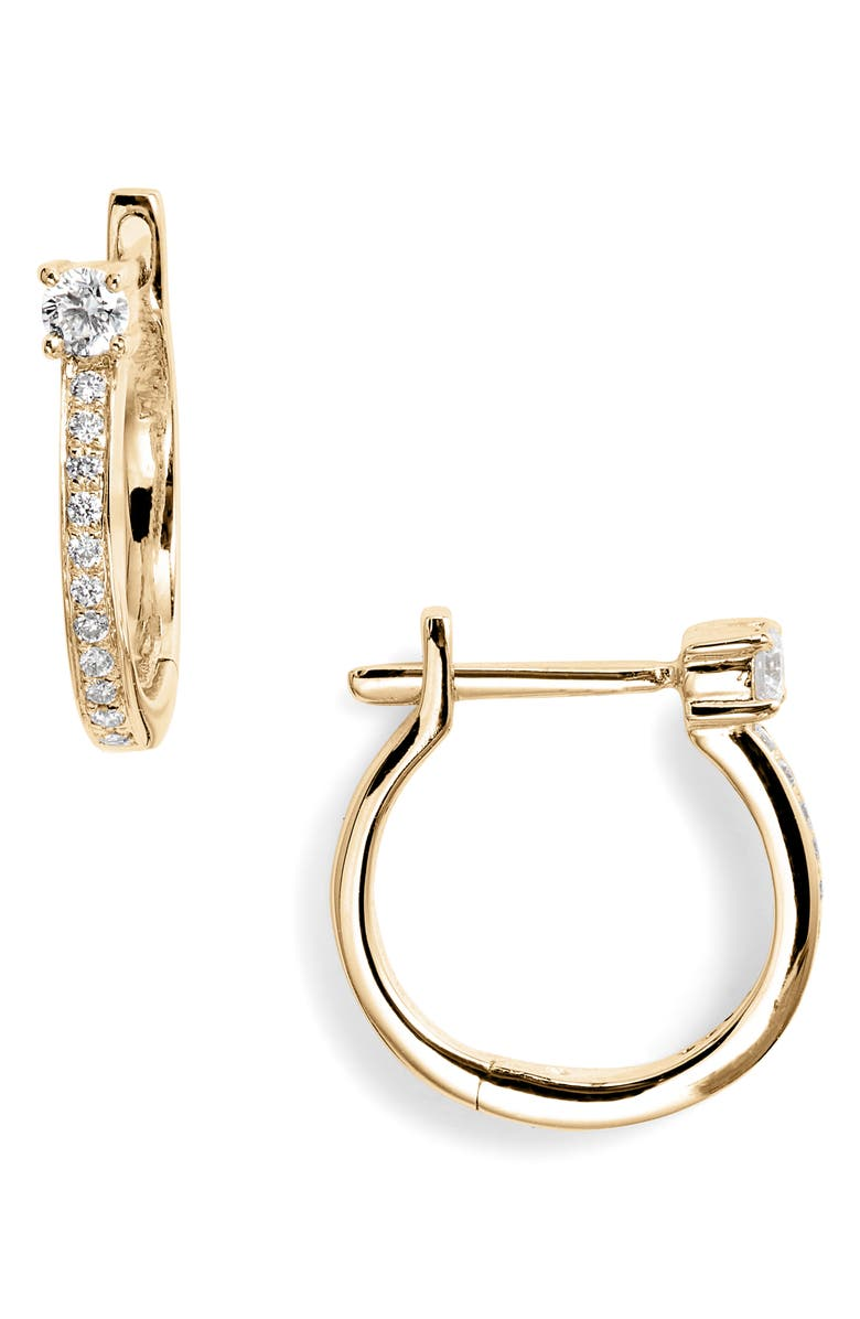 BONY LEVY Diamond Hoop Earrings, Main, color, 710