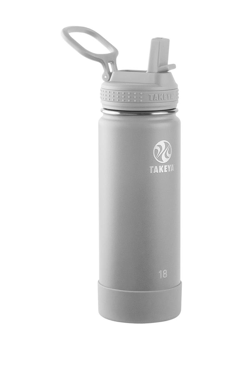 TAKEYA Actives Insulated 18 oz. Stainless Steel Bottle with Straw Lid - Pebble, Main, color, PEBBLE