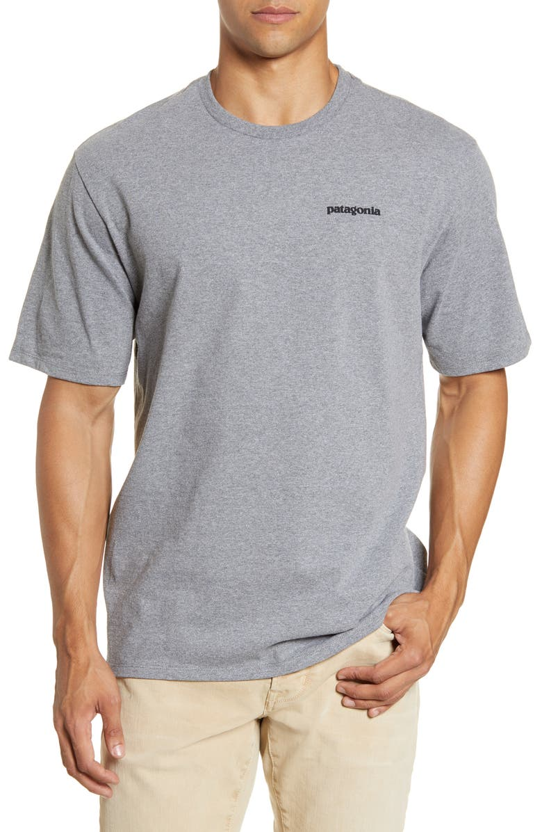 PATAGONIA P-6 Logo Responsibili-Tee<sup>®</sup> Graphic Tee, Main, color, GRAVEL HEATHER