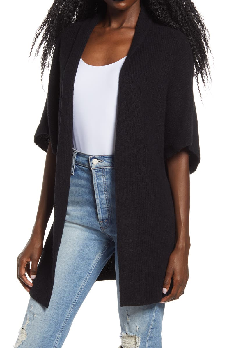 LEITH Open Front Dolman Sleeve Cardigan, Main, color, 001