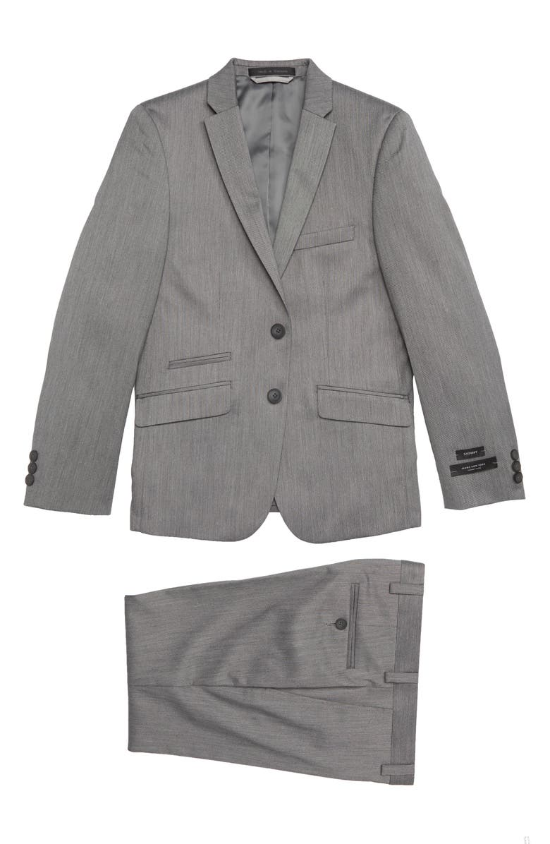 ANDREW MARC Two-Piece Suit, Main, color, GREY