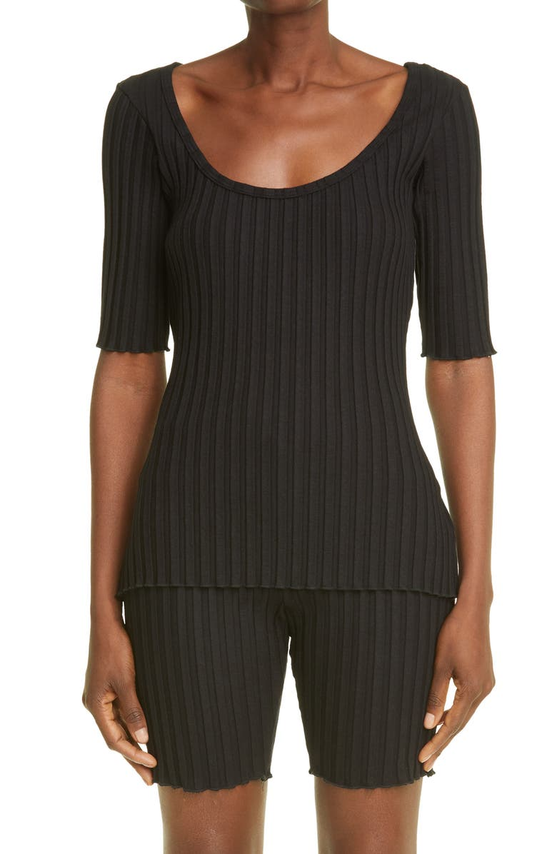 SIMON MILLER RIB by Simon Miller Vista Rib Top, Main, color, Black