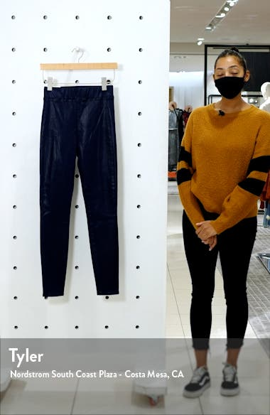 Rochelle Coated High Waist Pull-On Skinny Jeans, sales video thumbnail