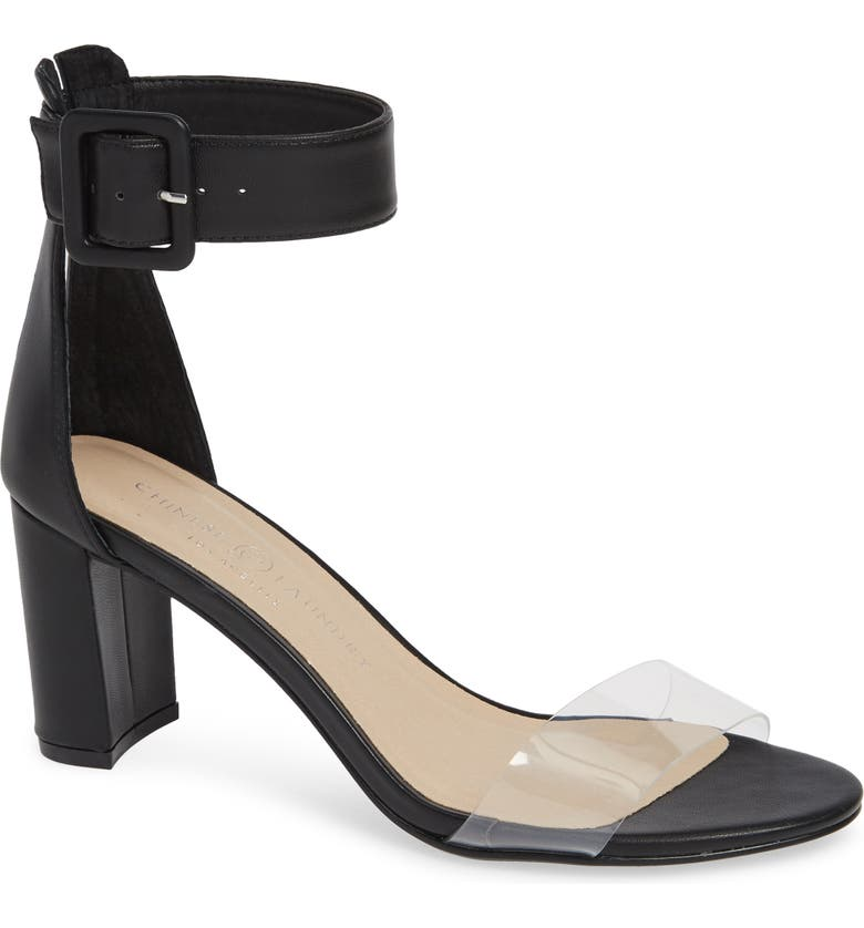 CHINESE LAUNDRY Reggie Ankle Strap Sandal, Main, color, BLACK LEATHER