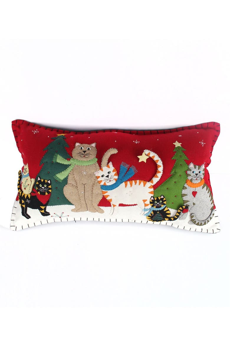 NEW WORLD ARTS Six Cats Accent Pillow, Main, color, 600