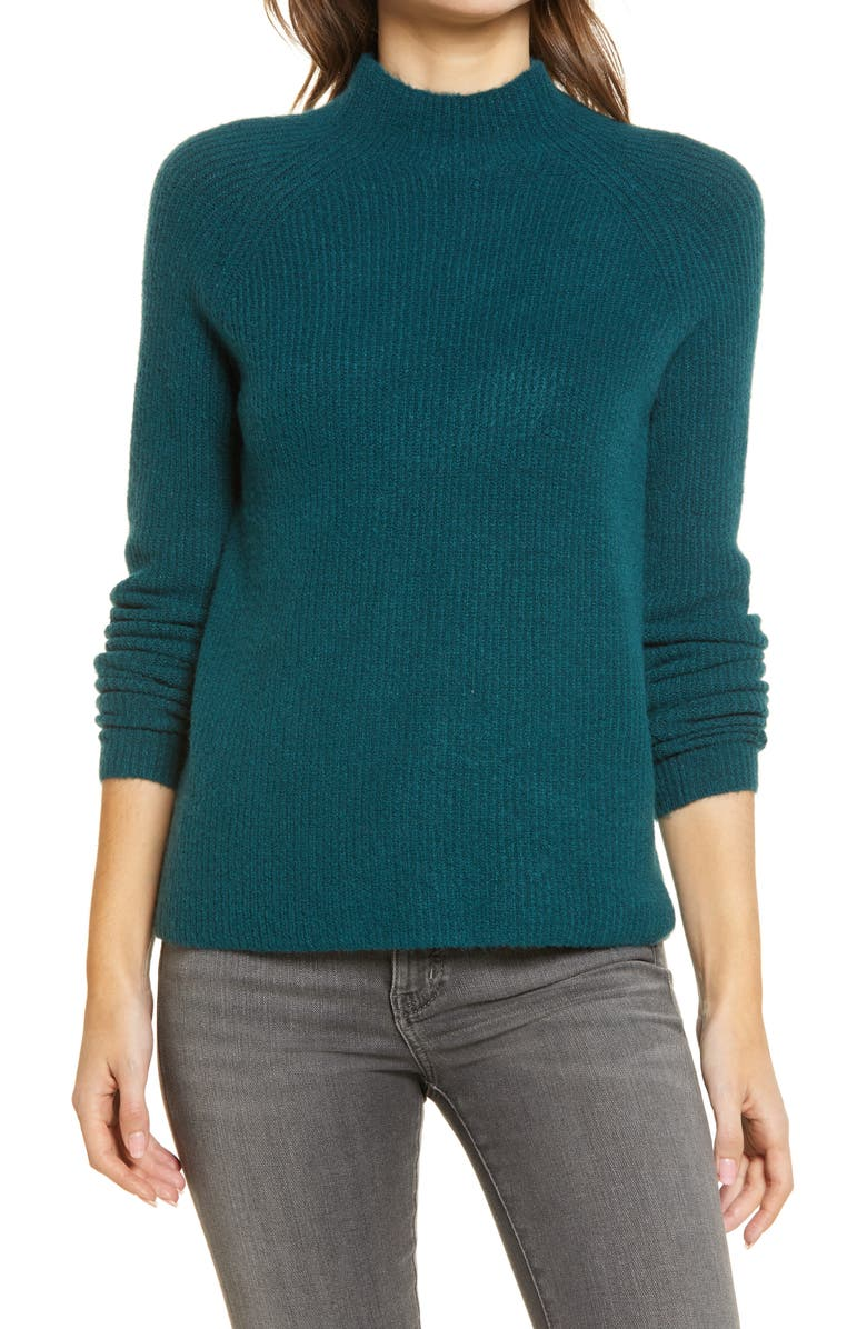 HALOGEN<SUP>®</SUP> Mock Neck Sweater, Main, color, Green
