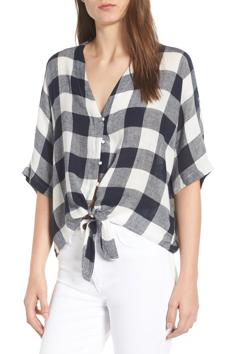 RAILS Thea Tie Waist Blouse, Main, color, 009