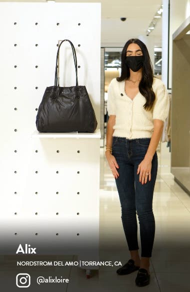 large everything puffy tote, sales video thumbnail