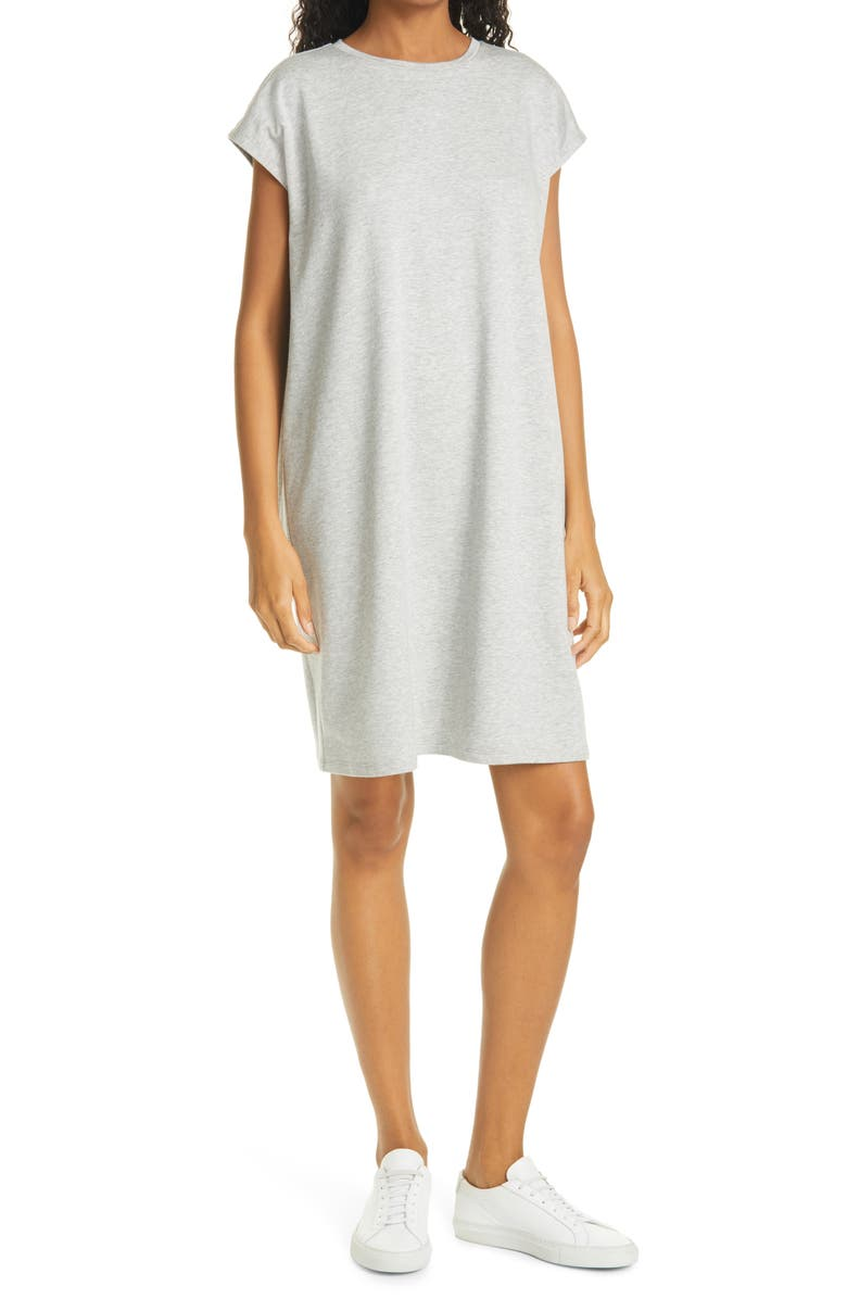 EILEEN FISHER Boxy T-Shirt Dress, Main, color, DARK PEARL