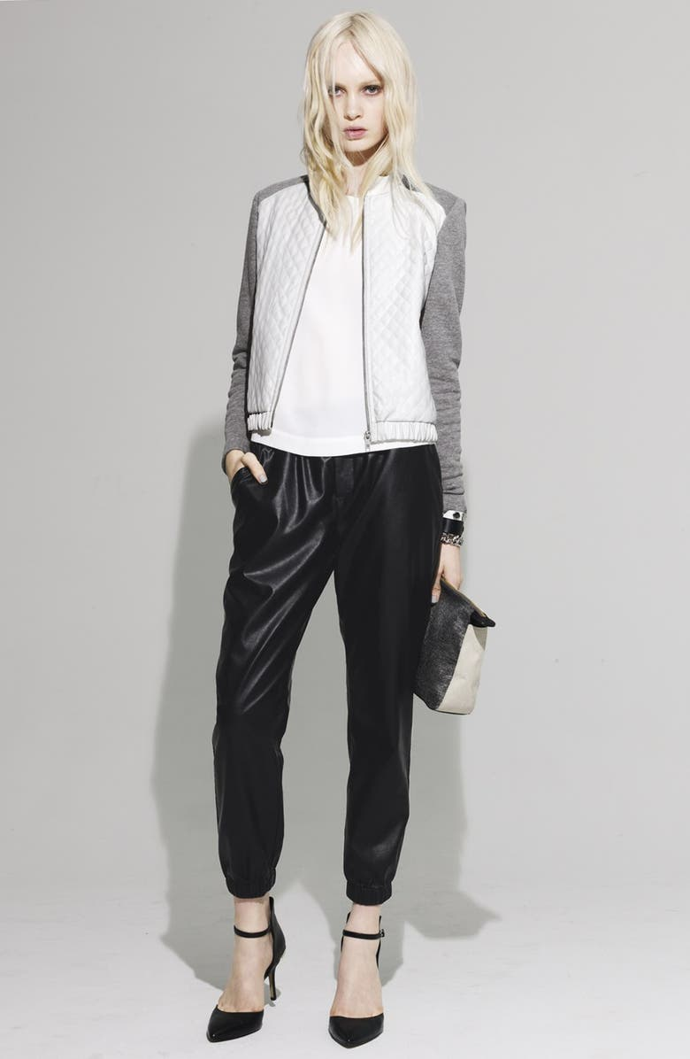 PIPER Faux Leather Track Pants, Main, color, 200