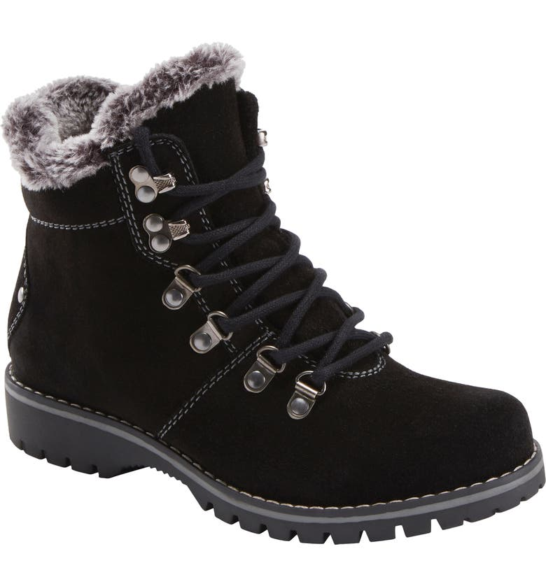 EARTH<SUP>®</SUP> Ranger Acadia Water Repellent Hiking Boot, Main, color, BLACK SUEDE