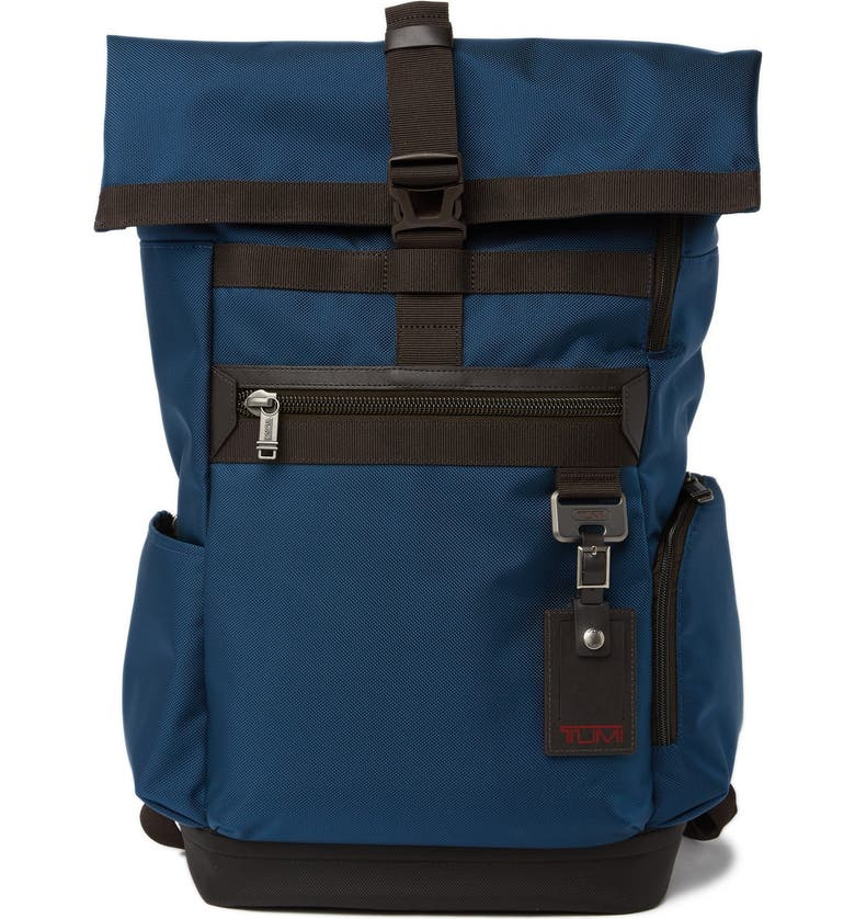 TUMI Birch Roll Top Backpack, Main, color, BALTIC