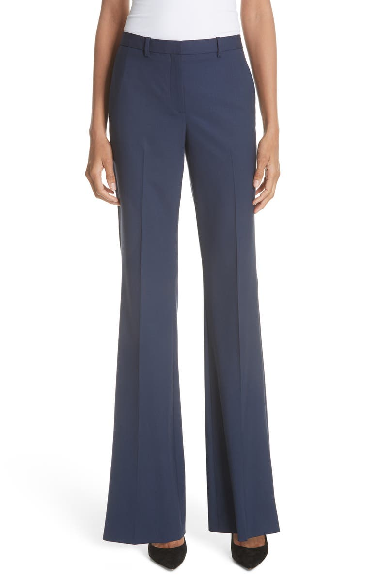 THEORY Demitria 2 Stretch Good Wool Suit Pants, Main, color, SEA BLUE