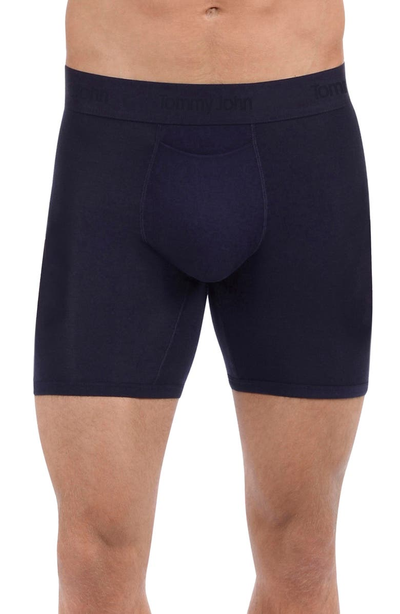 TOMMY JOHN Second Skin Boxer Briefs, Main, color, DRESS BLUES