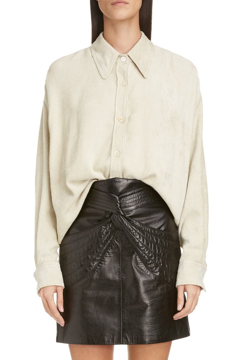 ISABEL MARANT Corduroy Shirt, Main, color, 900
